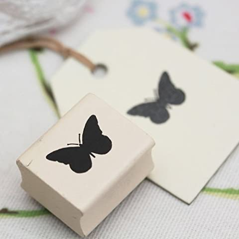 East of India Wooden Rubber Stamp - Butterfly by Little Something Gifts