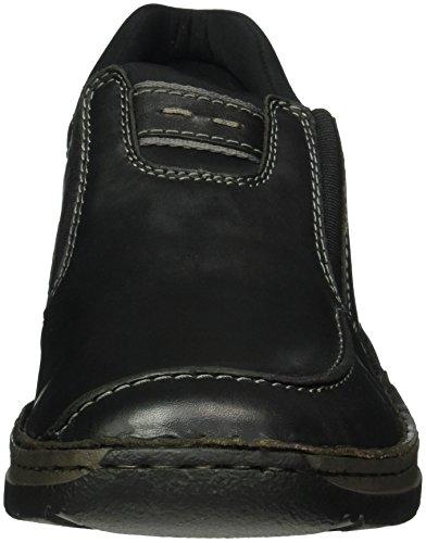 Rieker 5350, Mocassini Uomo Nero (schwarz/schwarz / 00)