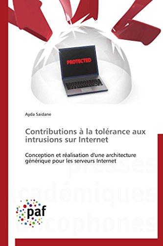 Contributions  la tolrance aux intrusions sur internet