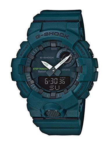 CASIO Herren Analog-Digital Quarz Uhr mit Harz Armband GBA-800-3AER