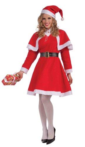 lt Female Christmas Costume (Mrs Santa Anzug)