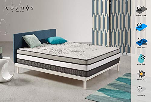 Matelas Solar - Mémoire Visco V200 Visco Gel - Mousse HR Active Latex - 30 cm - 140 x 190 cm