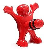 Bouchon bouteille de vin - Homme rouge - Bouchon vin - Cadeau Fun - Nouveauté - 8 cm x 7,50 cm x 4 cm par FENTASI