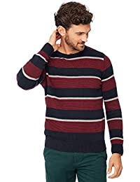 1c502f7a7b3f Maine New England Men Big and Tall Navy and Dark Red Striped Knit Jumper