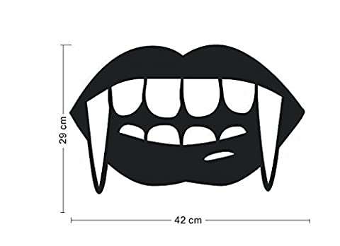 Wall stickers vampire teeth for Halloween window background decoration stickers 42*29cm