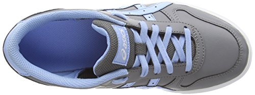 Asics Aaron Gs, Sneakers Basses Mixte adulte Gris (light Grey/blue Bell 1155)