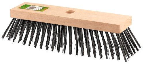 Connex Stahldrahtbesen 290 mm / Stahlbesen / Eisenbesen / Kehrbesen / mit Holzkörper / Garten / FLOR12070