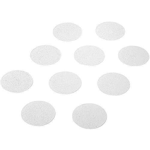 14 Stk. Premium Antirutsch Aufkleber für Duschen und Badewannen, rund 9 cm (ø), transparent, selbstklebend der geniale Rutschschutz