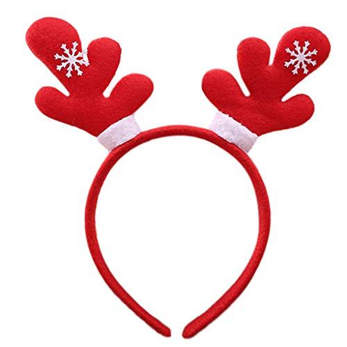 Weihnachten Hair Hoop Spirale Frühling Schneeflocke Cartoon Stirnband Party Cosplay Weich