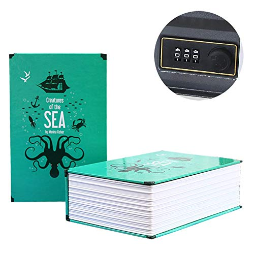 Chengstore Caja Seguridad combinación Libros, Caja