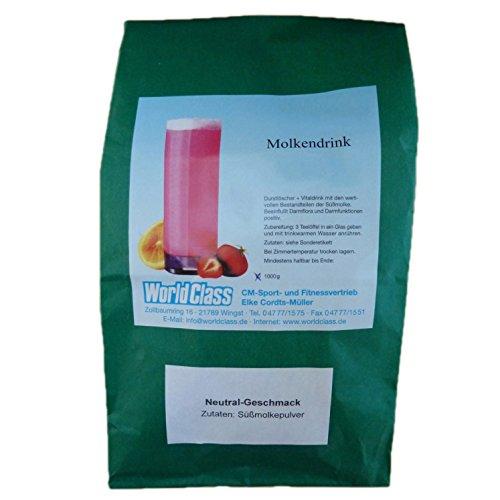 Molke Natur / Neutral 1 kg Molkepulver Wellnessdrink Eiweiß Fastenkur Badezusatz Süssmolke Molkenprotein Shake