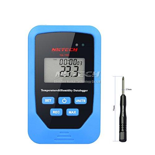 Express Desktop-modell (nktech Digital Thermometer Temperatur Luftfeuchtigkeit Tester 6in 1nk-th3Mini Recorder Daten loggen Zeit Display Dew Point Heat Index Datenlogger 70g Meter Wandhalterung und Schreibtisch Typ)