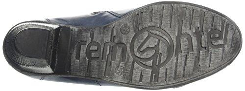 Remonte Damen D8770 Kurzschaft Stiefel Blau (ozean/altsilber / 14)