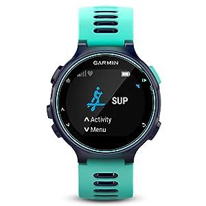 Garmin Forerunner 735XT - Reloj multisport con GPS, tecnología pulsómetro integrado, unisex, color turquesa y azul
