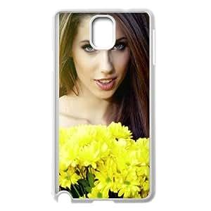 Girl Bouquet Flowers 77259 cover Samsung Galaxy Note 3 caso cover di telefono cellulare della copertura della cassa del telefono delle cellule bianche EEECBCAAH10015