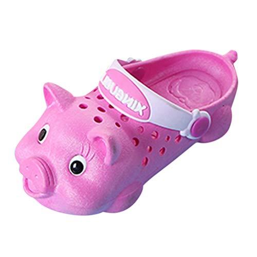koperras Reine Farbe SüßE Schwein Kinder Drinnen Und DraußEn Sandalen Hausschuhe Jungen Und MäDchen Strand rutschfeste Weichen Boden Schwein Loch Schuhe