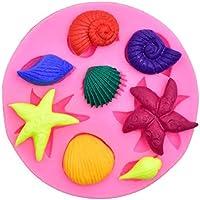 Concha de concha estrellas de mar molde de silicona Molde de pastel de chocolate Fondant decoración