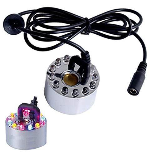 Hemore - Pulverizador ultrasónico de 24 V que cambia de color, con adaptador de enchufe de EE. UU.