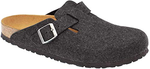 Birkenstock Boston Laine, Sabots Mixte Adulte, Gris Anthracite), 39 EU