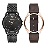 Emporio Armani Mens Analogue Quartz Watch with Stainless Steel Strap AR80021