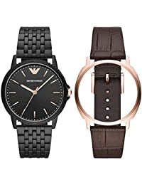 d621c4445750 Emporio Armani Reloj Analógico para Hombre de Cuarzo con Correa en Acero  Inoxidable AR80021