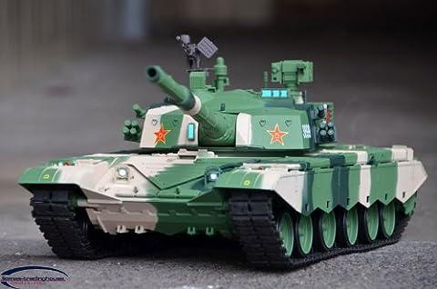 UPGRADED Heng Long China Army ZTZ T99 1/16 RTR Radio