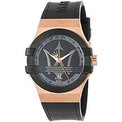 Maserati Men's Watch XL Analogue Rubber Quartz R8851108002 Potenza