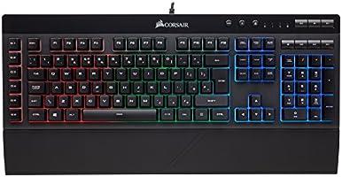 Corsair - CH-9000224-UK K30 - gaming-toetsenbord, rode achtergrondverlichting, zwart K55 RGB, gametoetsenbord effen