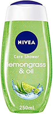 NIVEA Lemongrass & Oil Shower Gel, Caring Oil Pearls, Lemongrass Scent, 2