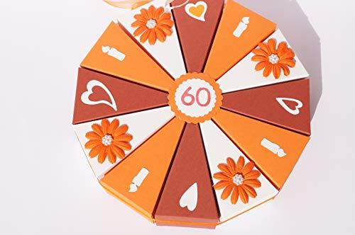 Tolle Torte 2 Geldgeschenk zum 60. Geburtstag, Geld verschenken, Geldgeschenk, Verpackung aus Papier zum Geburtstag