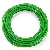 Courroie de transmission, courroie ronde en uréthane haute performance Ceinture ronde en polyuréthane PU à surface rugueuse verte pour la transmission du meilleur choix(4mm*10m)
