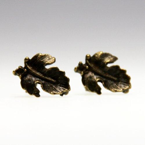 lijelove Ohrstecker, 04-00RO, Blätter im Herbst, bronze, 12 x 12 mm (X 4 12 Blättern)