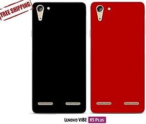 For Lenovo VIBE K5, Lenovo VIBE K5 Plus[COMBO OFFER]: Unistuff™ Matte Finish Hard Case Back Cover for Lenovo VIBE K5, Lenovo VIBE K5 Plus [SLIM FIT][FREE SHIPPING] (Black, Red)