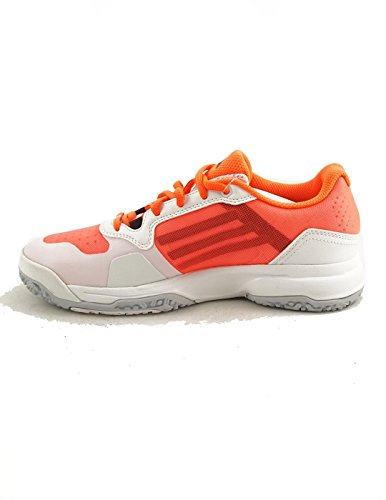 adidas Sonic Court W Padel OC - Zapatillas para Mujer, Color Blanco/Rosa/Naranja/Negro, Talla 39 1/3
