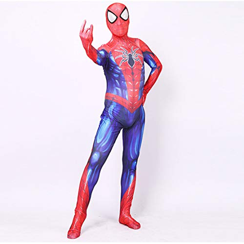 werty Cosplay Kleidung Neue Variante Spider-Man Cosplay Spielt Kleidung Anzug Lycra Stretch Digital Print Strumpfhosen Anime Kostüm Kinder Erwachsene Halloween Kostüm Woman-XXL