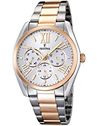 Festina  F16751/3 - Reloj de cuarzo para hombre, con correa de acero inoxidable chapado, multicolor
