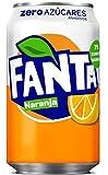 Fanta - Zero - Bebida refrescante de zumo de Naranaja - Lata 33 cl