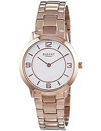 Regent Damen-Armbanduhr XS Analog Quarz Edelstahl beschichtet 12210932