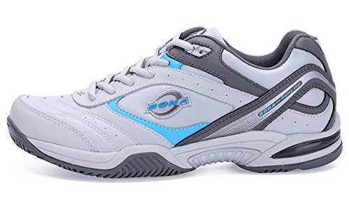 (New Classics Style Men Tennis Shoes Athletic Sneakers for Men Orginal Professional Sport Table Tennis Shoes Grey 10)