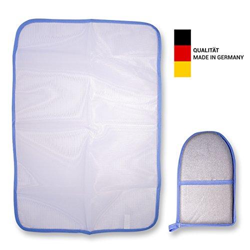 EVERLAR Bügeltuch & Bügelhandschuh Komfort Set Made in Germany - Leichtigkeit, Schutz und Zeitersparnis beim Bügeln ihrer Lieblingstextilien