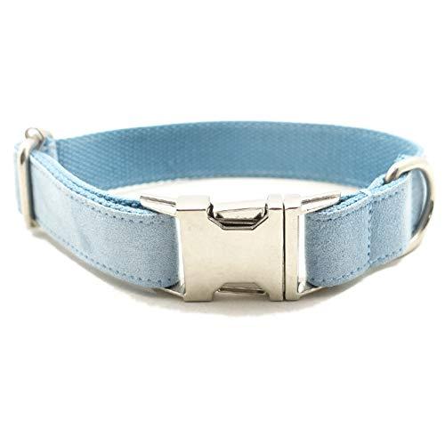 QitunC Hundehalsband Flannelette Geflochten Reißfest Einstellbare Metall Schnalle Haustier Hund Halsbänder Aspicture XL -