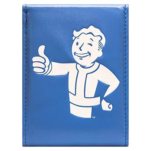 Fallout 4 Daumen hoch geknöpft Blau Portemonnaie ()