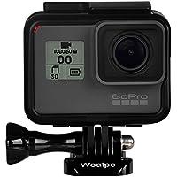 Wealpe Rahmen Rahmenhalterung mit Objektivschutz und Lens Cap Kompatibel mit GoPro Hero 7 Schwarz, 6, 5, Hero (2018) Kameras