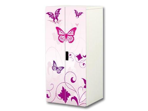 """""""Pink World"""" Aufkleber-Set passend für den Kinderzimmer Schrank STUVA von IKEA (Korpus: 60 x 128 cm) – SC16"""