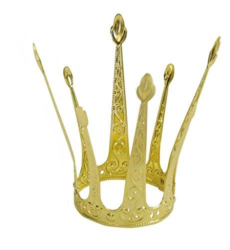 KarnevalsTeufel Krone Gold,klassisch, Metallkrone, Krönchen, Prinzessinnenkrone (Modell H)
