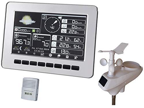 froggit HP1000 SE (Version 2018) Professionelle WI-Fi Internet Funk Wetterstation - Solarunterstüzte Außeneinheit, LCD Vollfarbdisplay inkl. 4GB Flashspeicher, Wunderground Anbindung