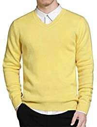 Pull Homme Pull Tricoté Col Coton Simple Style V Casua Moderne Pullover Pull  Hommes Bleu Tricoté dcc063fb9305