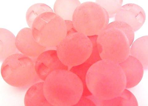 5 Knöpfe Kugel zart rosa 14 mm