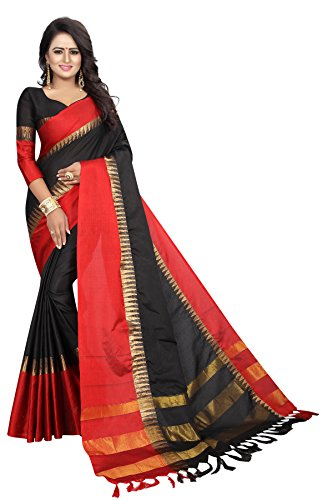 Womens-cotton-Silk-Saree-With-Blouse-Piece-TempleVisvaVatiation