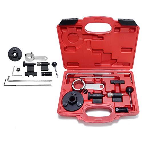 Aufun Zahnriemenradwerkzeuge Zahnriemen Wechsel Werkzeug für Audi Seat Skoda VW VAG Diesel 1.6 und 2.0 TDI Motoren Engine Timing Tool Kit, 10-TLG.